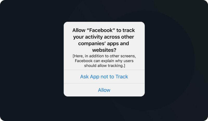 Popup van de iOS 14 update